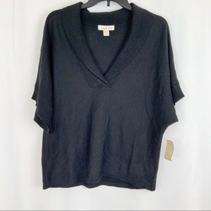 ColdWater Creek size L (14) black Top Sweater